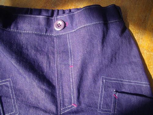 Denim pants, semi fake fly. by oddwise