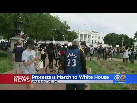 Protests Against Deadly Arrest Lock Down White House; Car Burned Outside CNN