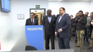 Oriol Junqueras a la nova oficina