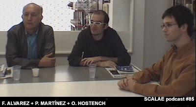 Álvarez, Hostench y Martínez en el Centro de Enlace AE BCN para SCALAE