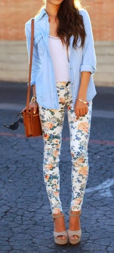 The perfect way to dress up these floral pants could be with our Kinsey or Mendel top! Please follow / repin my pinterest. Also visit my blog  http://mutefashion.com/