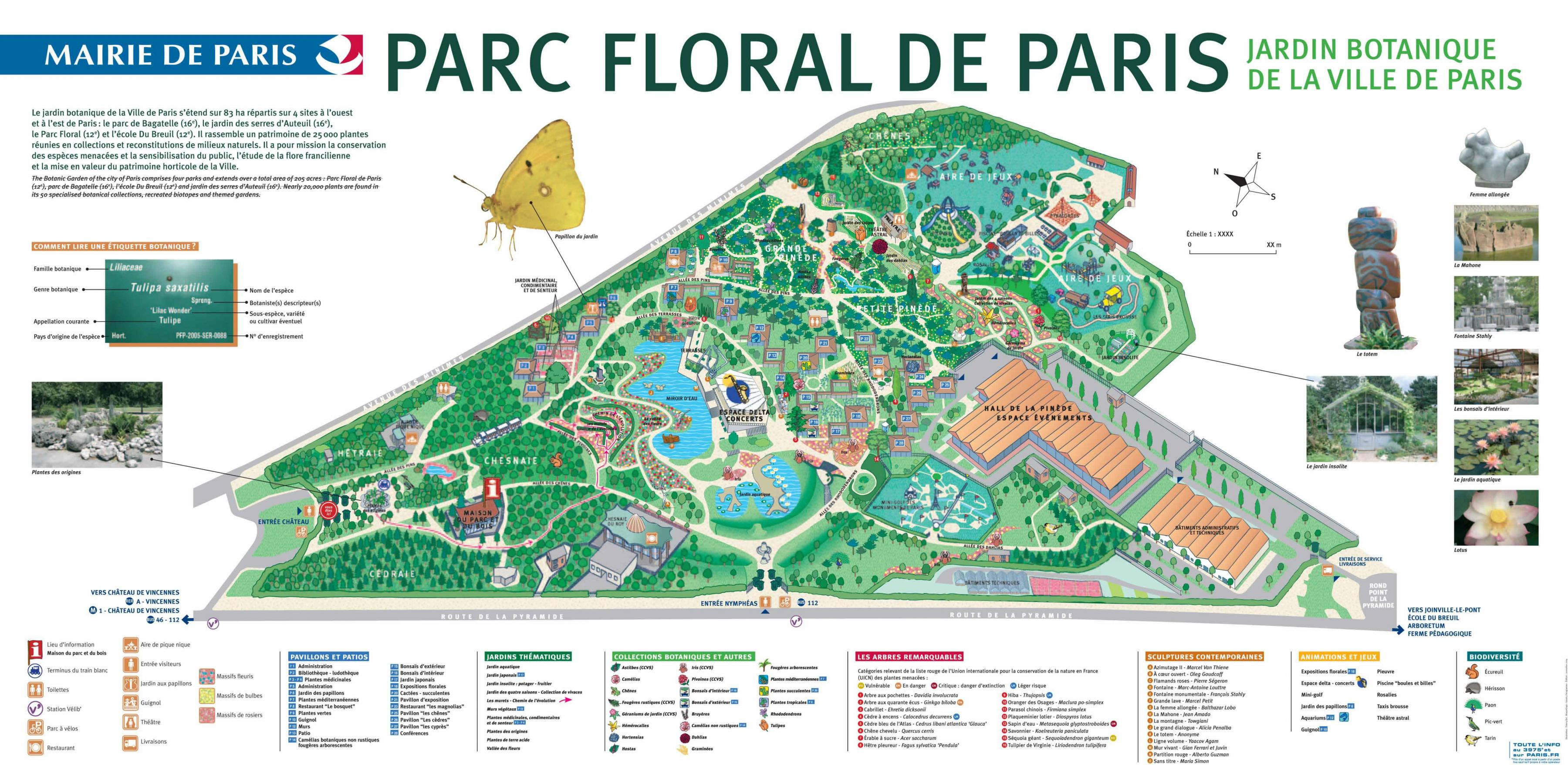plan parc floral de paris