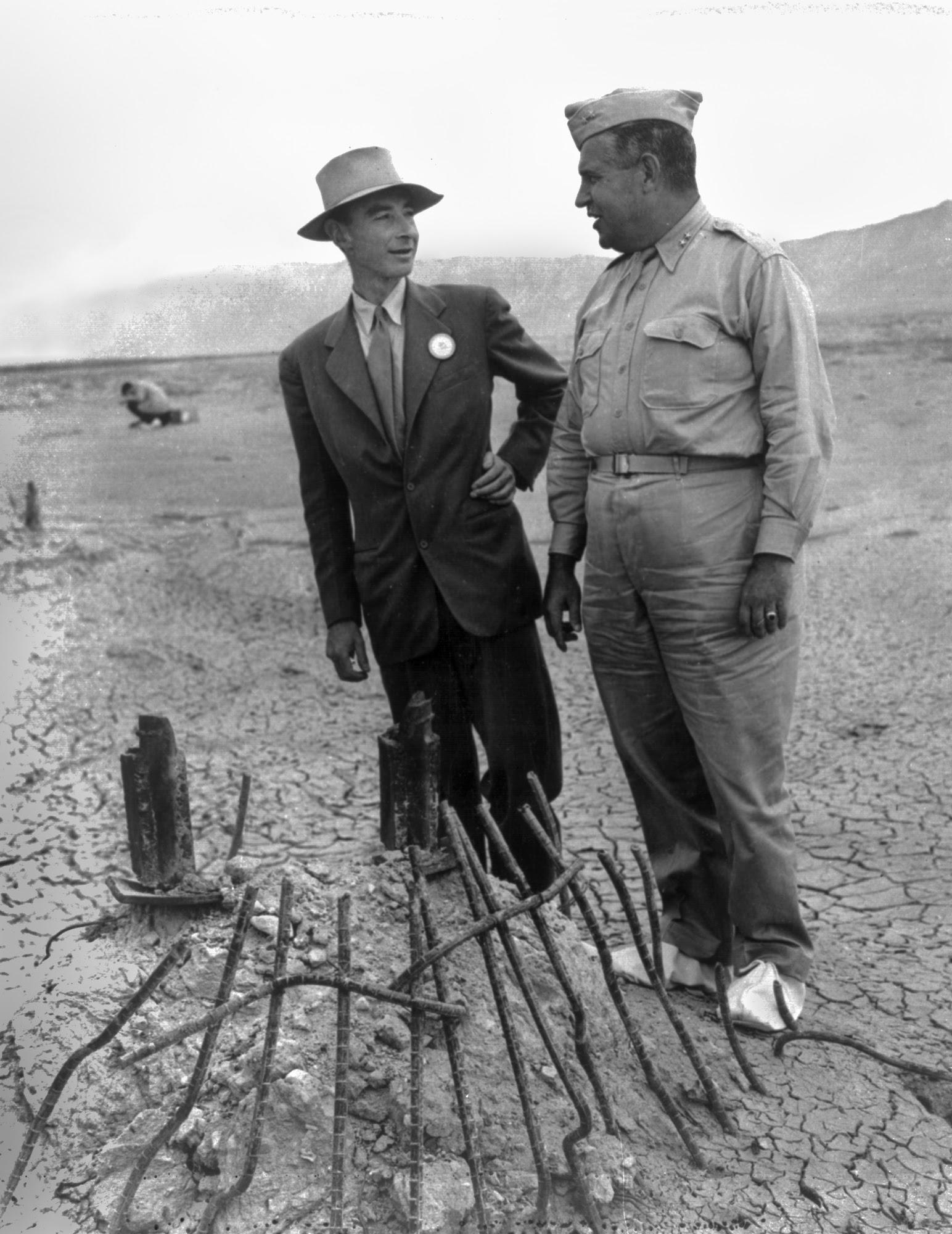 File:Trinity Test - Oppenheimer and Groves at Ground Zero 002.jpg