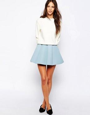Pull&Bear Scuba Skirt