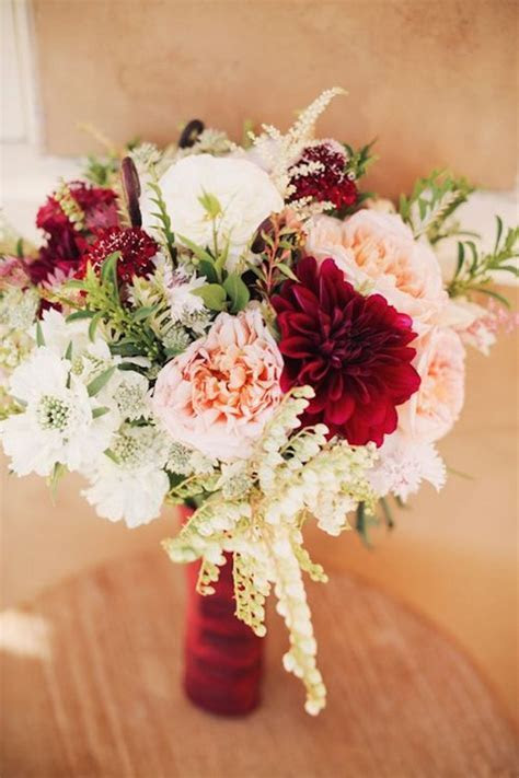 30 Burgundy and Blush Fall Wedding Ideas   Deer Pearl Flowers