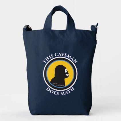 Smart Caveman: Do Math and Advance Mankind Tote Ba Duck Bag