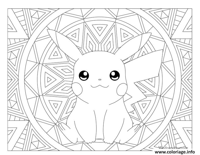 Coloriage Adulte Pokemon Pikachu Jecoloriecom