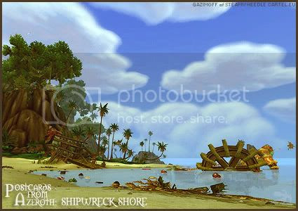 Postcards of Azeroth: Shipwreck Shore, submitted by Gazimoff of Steamwheedle Cartel-EU