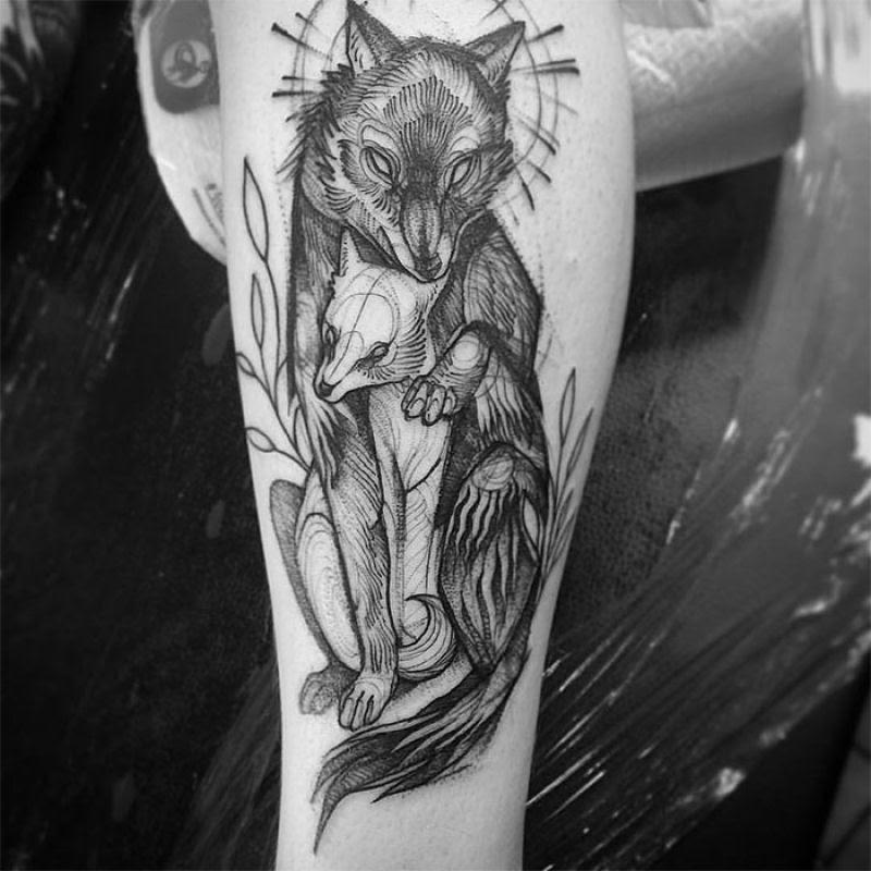 As tatuagens que parecem esboços de desenhos a lápis, por Nomi Chi 05