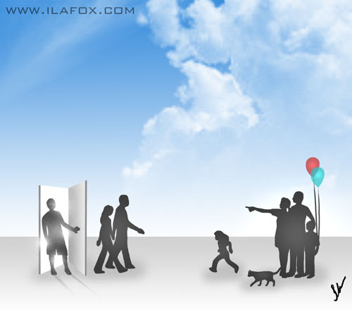 vida após a morte, religião espírita, ilustração by ila fox