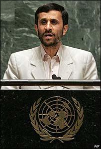 Mahmoud Ahmedinejad, presidente de Irán, habla ante la Asamblea General de la ONU