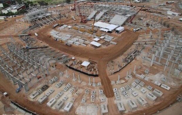 Foto aérea da Arena das Dunas, em Natal, em 14 de setembro (Foto: Canindé Soares/Divulgação)