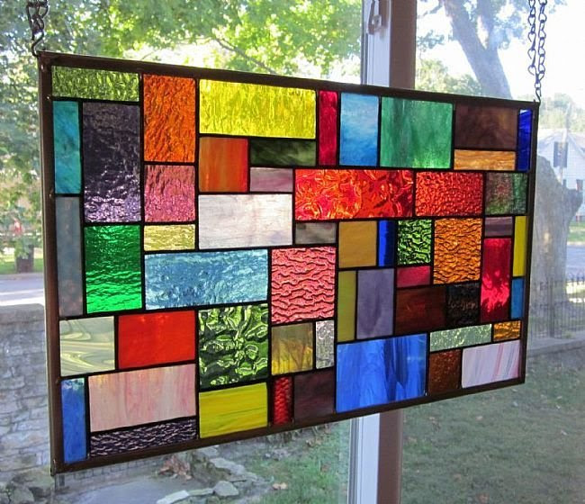 Stained Glass Window Hanging Panel