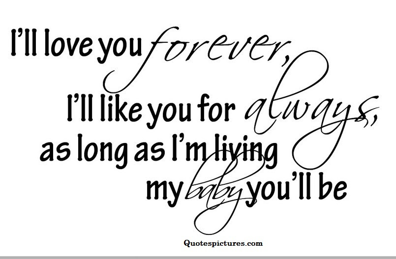 I Love My Cute Baby Forever Quotespicturescom