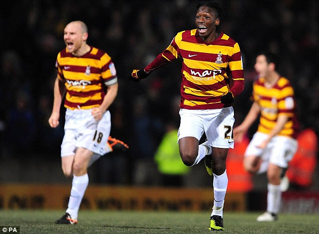 Arsenal lose to Bradford in the Capital One League Cup ...