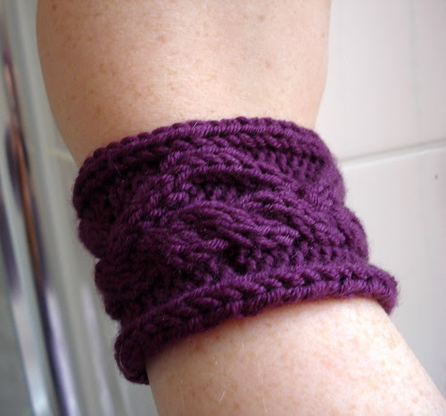 Easy cable knitting pattern tutorial band