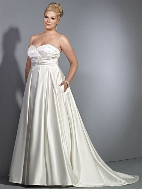 Empire Sweetheart Chapel Train Plus Size Maternity Wedding