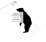 Bear Standing Silhouette Yard Art Woodworking Pattern - fee plans from WoodworkersWorkshop® Online Store - bears,animals,wildlife,yard art,painting wood crafts,scrollsawing patterns,drawings,plywood,plywoodworking plans,woodworkers projects,workshop blueprints