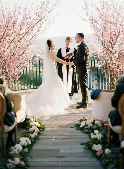 Napa Valley Wedding with Cherry Blossoms   MODwedding