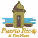 Puerto Rico Is The Place Embroidered Shirt