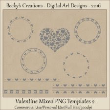 Valentine Mixed Element Templates 02-FS-CU-PNG-Beckys Creations