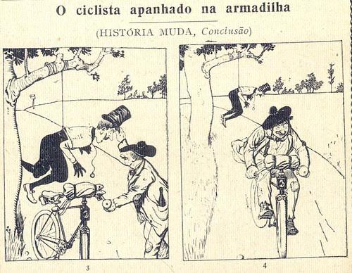 Almanaque Bertrand, 1934 - Cyclist caught in a trap 27