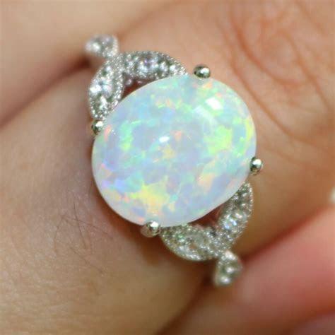 Size 4 12 Sterling Silver Australian Fire Opal Ring