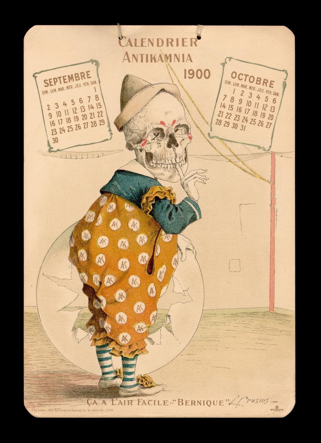 calendar Antikamnia 1900