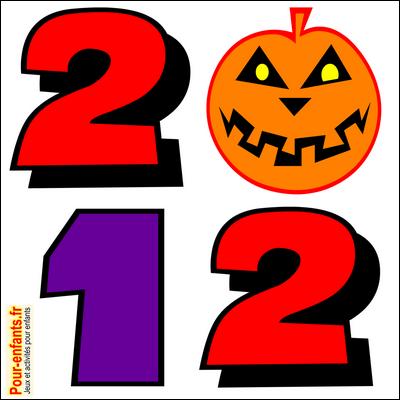 Dessin Halloween 2012 en chiffres