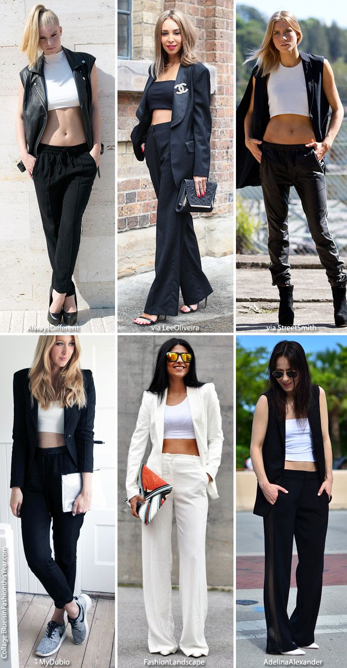 How to Wear: Crop Tops + Black & White
