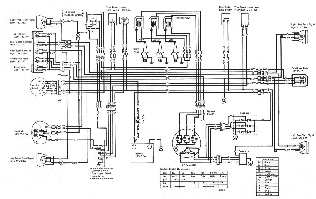 1998 Kawasaki Wiring Diagram Schematic