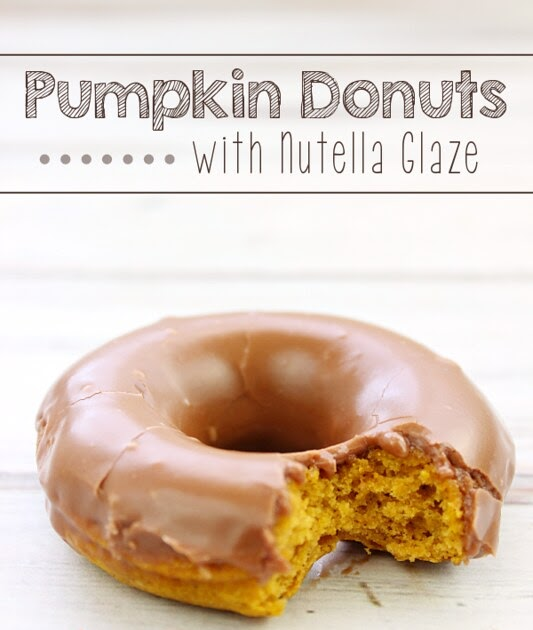 Pumpkin Donuts with Nutella Glaze | Love Bakes Good Cakes