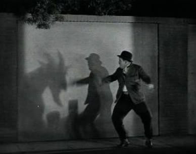 Do Detectives Think Oliver Hardy goat shadow