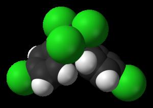 Space-filling model of the DDT molecule, C 14 ...