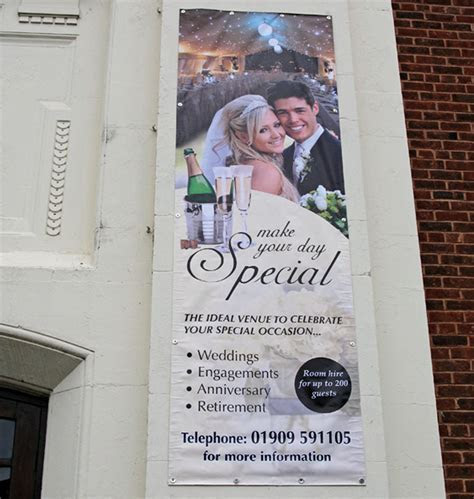 Banners, printed banners, banner signs, wall mounted