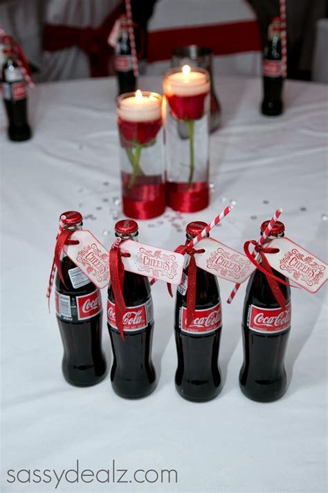 DIY Coca Cola Bottle Wedding Favor Idea #Coke bottle