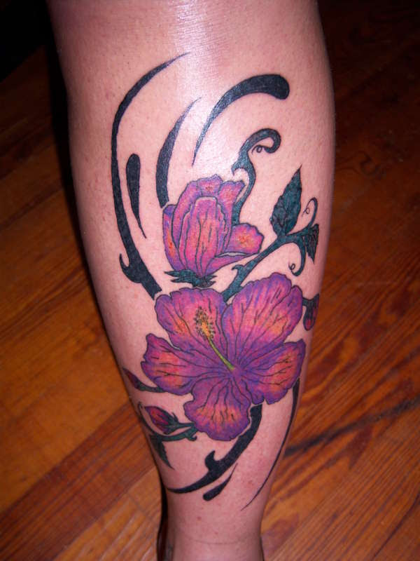 Hibiscus Flower Tattoos On Half Sleeves Tattoomagz