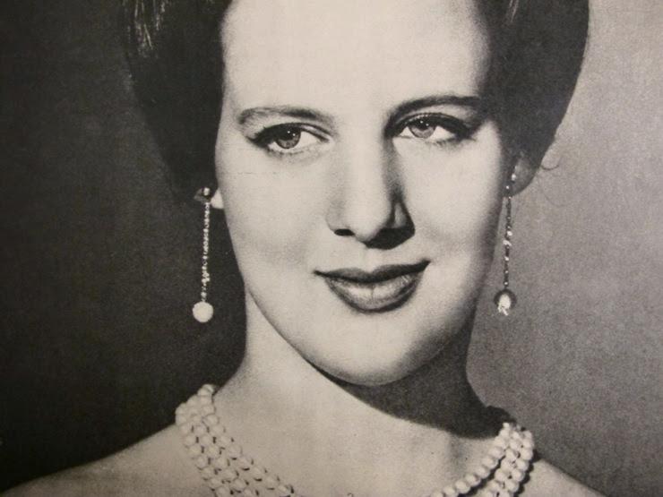 Margrethe II Princess of Denmark 1966