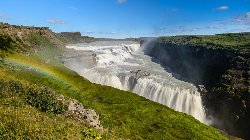 Rainbow over Gullfoss
