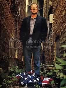 Bill Ayers desecrates the U. S. flag