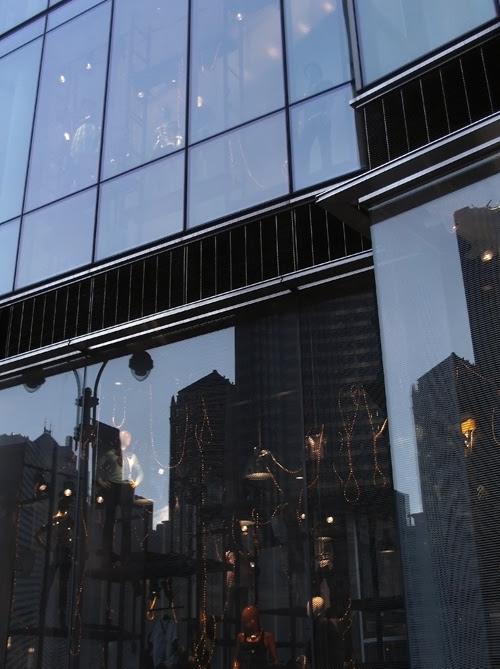 reflection, 42nd Street, Manhattan, NYC