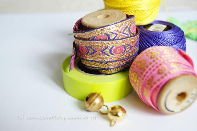 Ribbons, washi tape, pearl cotton