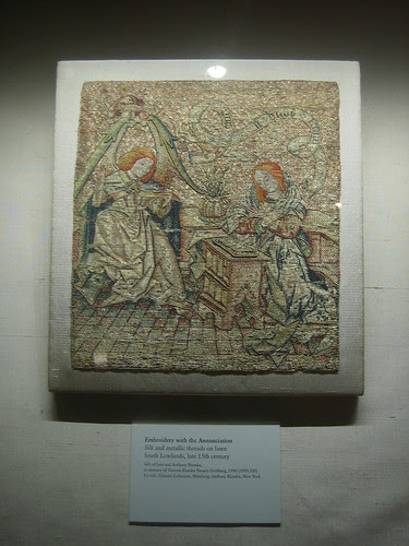 Embroidery with the Annunciation, South Lowlands, late 15th century _7875