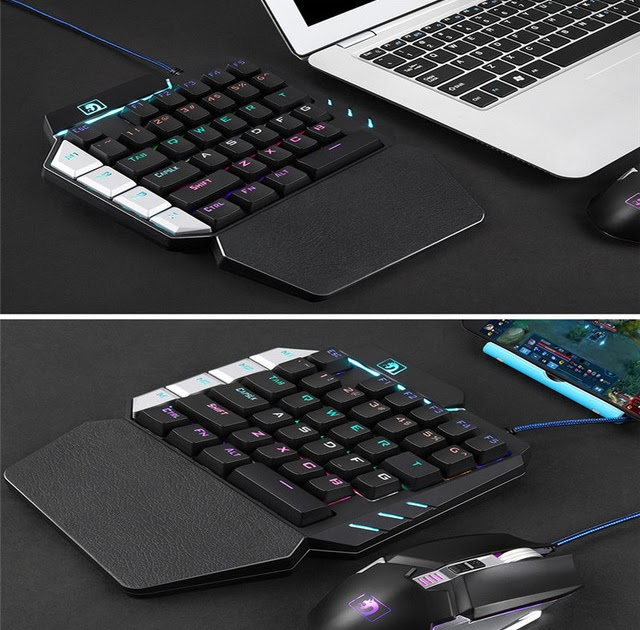 ad4ae82446a Best Price 35 Keys Single One Hand Mechanical Gaming Keyboard USB Wired For  PUBG LOL Gamer