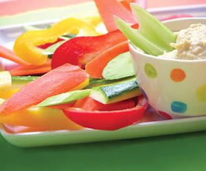 verduras y hummus dip