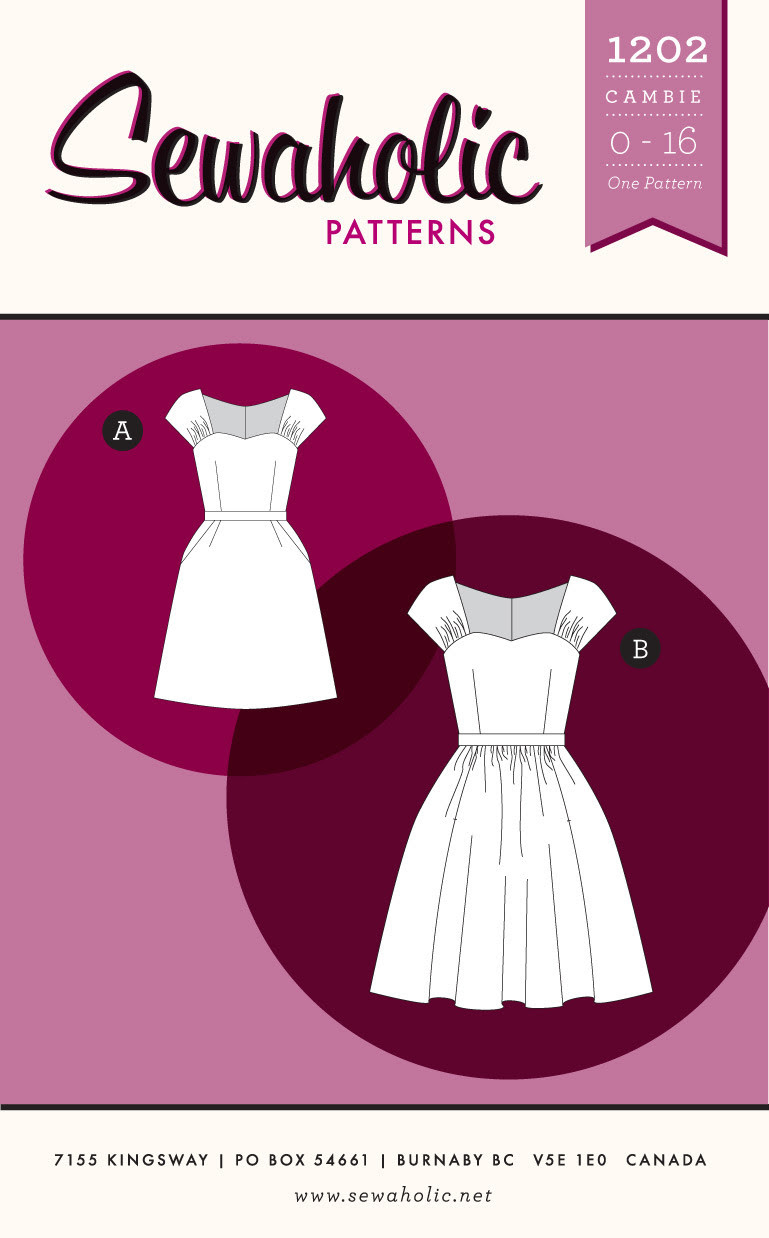 Cambie Dress sewing pattern - PDF Version