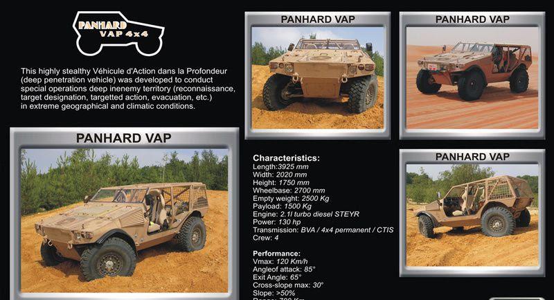 Resultado de imagen para El Vehicule d'Action dans la Profondeur (VAP) de Panhard,