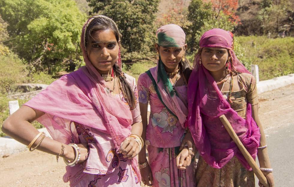 Trabajadoras de la construcción en Rajastán.