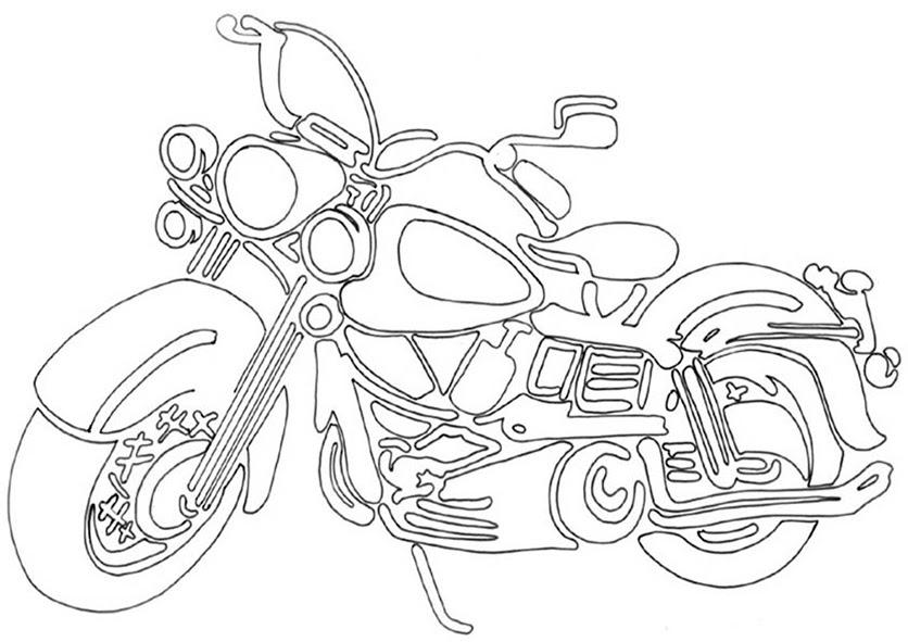 motorrad malvorlagen zum ausdrucken