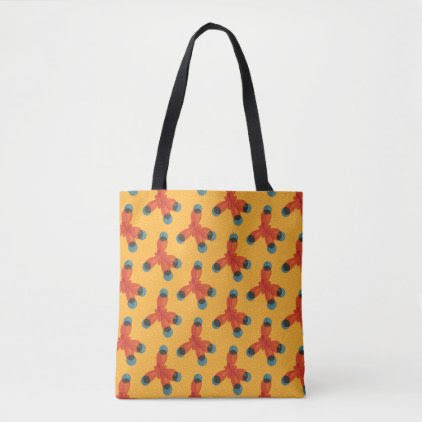 Chemistry Pattern Geek Orange Methane Molecule Tote Bag